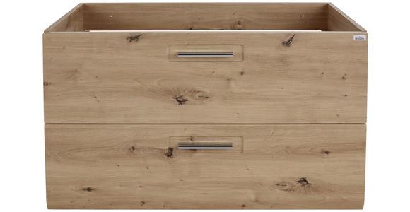 Waschbeckenunterschrank mit Soft-Close Avensis B: 90cm - Fichtefarben/Eichefarben, MODERN, Holzwerkstoff (90/53/45cm) - Luca Bessoni