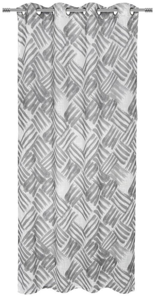 ÖSENSCHAL  halbtransparent  135/245/ cm - Grau, Design, Textil (135/245/cm) - Esposa