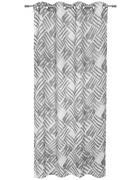 ZAVESA Z OBROČKI MARVIN - siva, Design, tekstil (135/245cm) - Esposa