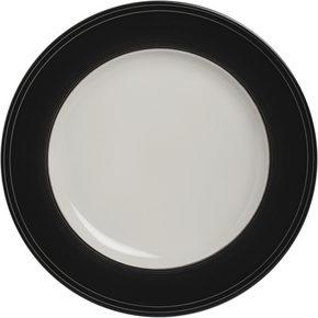 MATTALLRIK - vit/svart, Design, keramik (27,5cm) - Novel