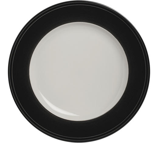 TALÍŘ JÍDELNÍ, porcelán - bílá/černá, Design, keramika (27,5cm) - Novel