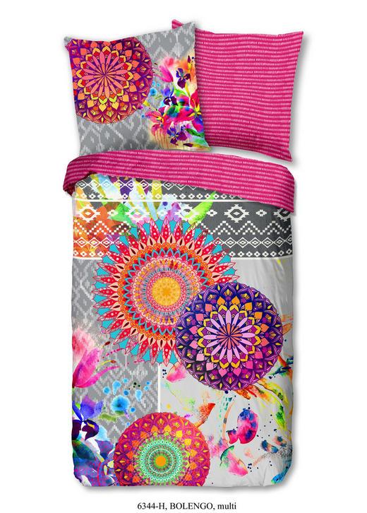 BETTWÄSCHE Satin Multicolor, Pink 135/200 cm - Pink/Multicolor, Trend, Textil (135/200cm)