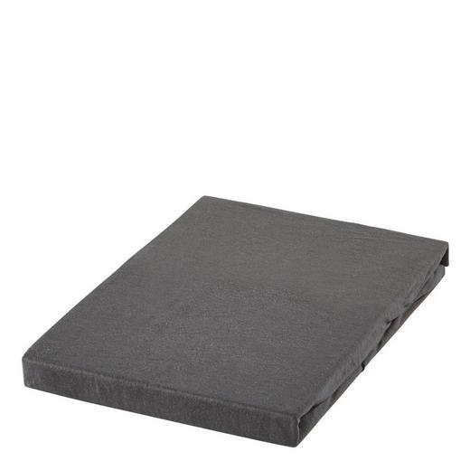 SPANNBETTTUCH Jersey Anthrazit bügelfrei, für Wasserbetten geeignet - Anthrazit, Basics, Textil (100/200cm) - BOXXX