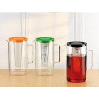 Glaskrug 2,5 L  - Transparent/Rot, Basics, Glas/Kunststoff (17,6/25,2cm) - Bohemia