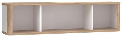 HÄNGEELEMENT in Weiß, Eichefarben   - Eichefarben/Weiß, KONVENTIONELL, Holzwerkstoff (120/30,4/25,8cm) - Xora