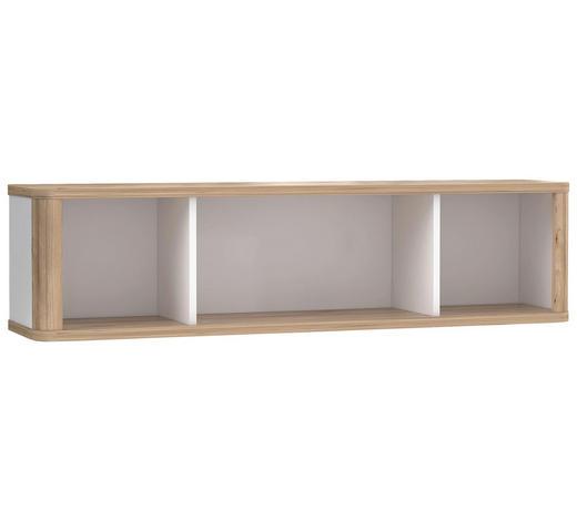 ZÁVĚSNÝ DÍL, bílá, barvy dubu - bílá/barvy dubu, Konvenční, kompozitní dřevo (120/30,4/25,8cm) - Xora