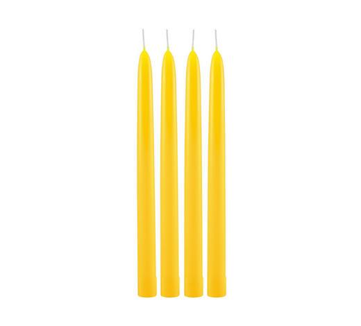 4ER SET STABKERZEN 26 cm  - Gelb, Basics (26cm) - Steinhart