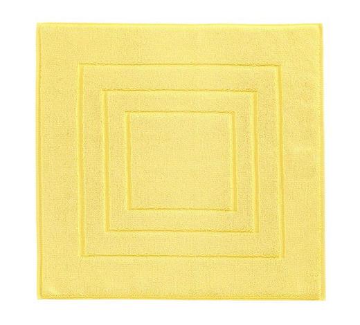 PŘEDLOŽKA KOUPELNOVÁ, 60/60 cm, žlutá - žlutá, Basics, textil (60/60cm) - Vossen
