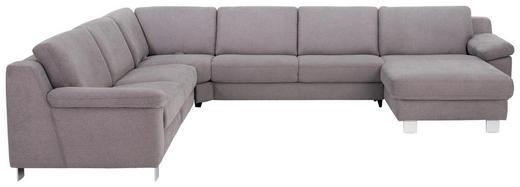 WOHNLANDSCHAFT Grau Chenille - Chromfarben/Grau, Design, Textil/Metall (278/364/166cm) - Valdera