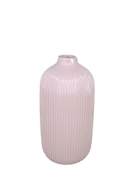 VASE - Rosa, Basics, Keramik (13,3/25cm) - Ambia Home