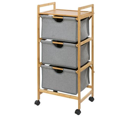 BADEZIMMERREGAL Holz, Textil Bambus massiv Braun, Grau online kaufen ...