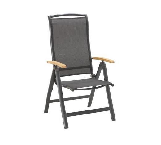 ZAHRADNÍ SKLÁPĚCÍ ŽIDLE - černá/antracitová, Design, kov/dřevo (63/116/60cm) - Ambia Garden