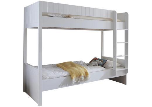 ETAGENBETT - Weiß, Design, Holz/Holzwerkstoff (90/200cm)