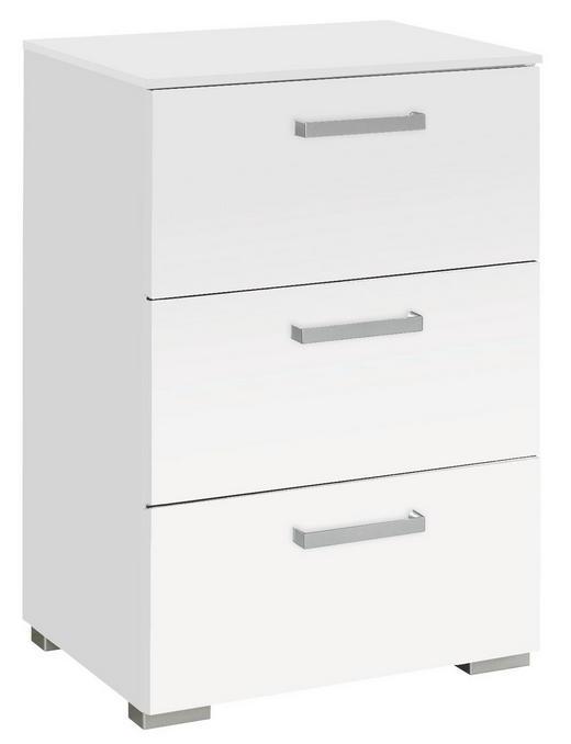 KOMMODE Weiß - Alufarben/Weiß, Design, Kunststoff/Metall (55/81/42cm) - Carryhome