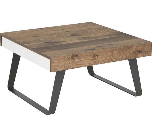 COUCHTISCH in Holz, Metall, Holzwerkstoff 85/85/45 cm   - Eichefarben/Weiß, Design, Holz/Holzwerkstoff (85/85/45cm) - Gwinner Internation.