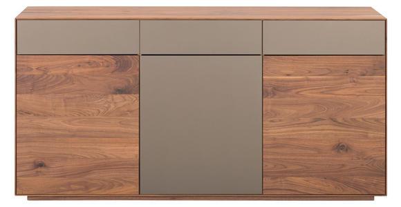 SIDEBOARD - Nussbaumfarben/Bronzefarben, Natur, Glas/Holz (170/85/41cm) - Dieter Knoll