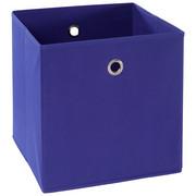 FALTBOX Metall, Textil, Karton Blau, Silberfarben  - Blau/Silberfarben, Design, Karton/Textil (32/32/32cm) - Carryhome