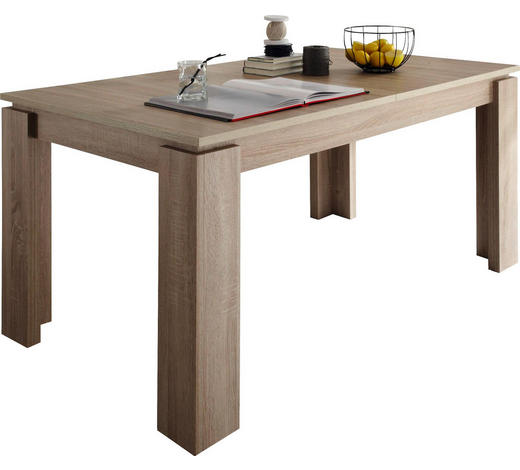 ESSTISCH in Holzwerkstoff 160(200)/90/77 cm - Eichefarben, Basics, Holzwerkstoff (160(200)/90/77cm) - Carryhome