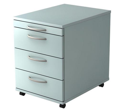 ROLLCONTAINER Grau  - Silberfarben/Grau, KONVENTIONELL, Kunststoff (42,8/59/58cm)