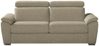 SCHLAFSOFA in Textil Beige - Chromfarben/Beige, KONVENTIONELL, Textil/Metall (206/86-104/98cm) - Dieter Knoll