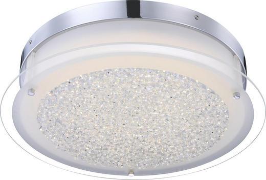 LED-DECKENLEUCHTE - Chromfarben, Design, Glas/Metall (45/11cm)