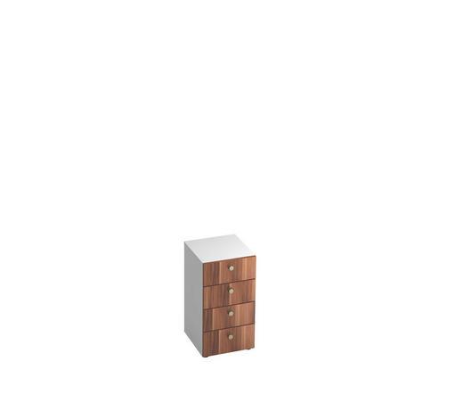 ANSTELLCONTAINER - Zwetschgefarben/Alufarben, KONVENTIONELL, Holzwerkstoff/Metall (40/74.8/42cm)