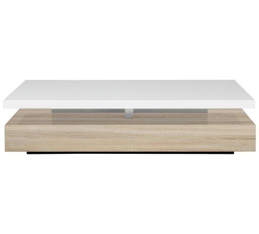 COUCHTISCH - Eichefarben/Weiß, Basics, Holzwerkstoff (117/58/29cm) - Carryhome