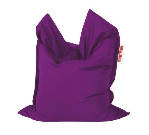 SITZSACK in Textil Aubergine  - Aubergine, Design, Textil (130/170cm)