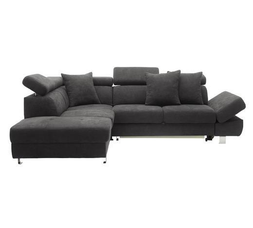 SEDACÍ SOUPRAVA, textil, šedá - šedá/barvy chromu, Design, kov/textil (223/95/268cm) - Stylife