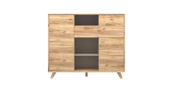 KOMMODE melaminharzbeschichtet Eichefarben  - Eichefarben, Design, Holz/Holzwerkstoff (142/120/41cm) - Linea Natura