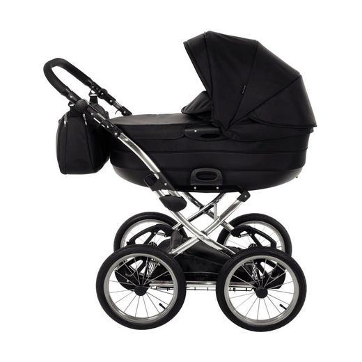 Precioso Premium  Knorr-Baby Kinderwagen  Schwarz - Silberfarben/Schwarz, Basics, Textil/Metall (60/107/110cm)