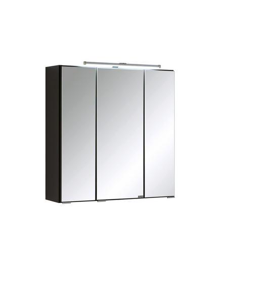 SPIEGELSCHRANK Graphitfarben - Chromfarben/Graphitfarben, Design, Glas/Holzwerkstoff (60/64/20cm) - Xora