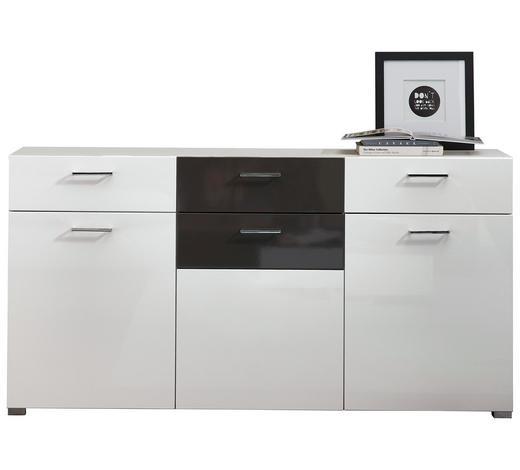 SIDEBOARD 170/87/42 cm - Alufarben/Weiß, Design, Glas/Holzwerkstoff (170/87/42cm) - Xora