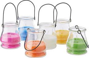 LJUS I GLAS - orange/vit, Basics, glas (9,3/9,8cm) - Ambia Home