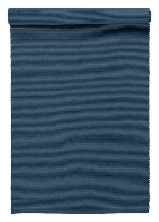 TISCHLÄUFER Textil Blau 45/150 cm - Blau, Basics, Textil (45/150cm) - Linum