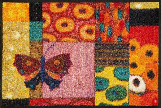 FUßMATTE 50/75 cm Graphik Multicolor, Rot - Rot/Multicolor, Basics, Kunststoff/Textil (50/75cm) - Esposa