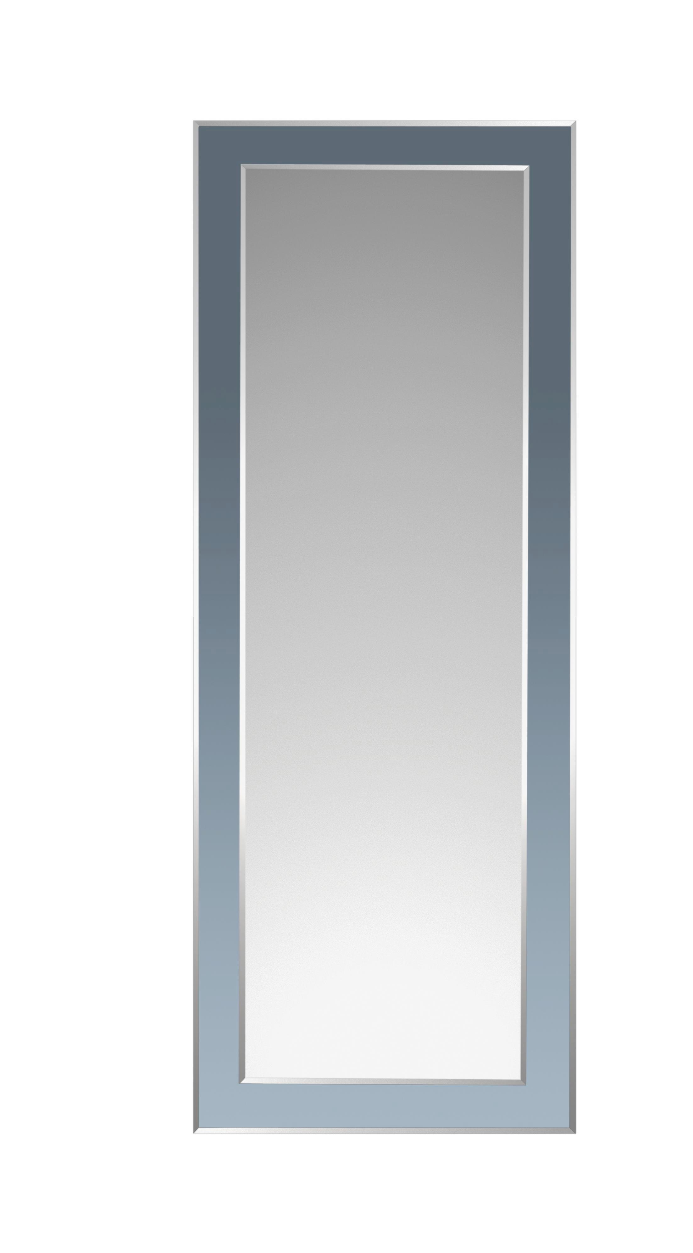 SPIEGEL - Silberfarben/Schwarz, Design, Glas (60/160/1,5cm) - BOXXX