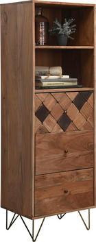 KOMODA - boje mjeda/boje bagrema, Design, drvo/metal (50/153/43cm) - AMBIA HOME