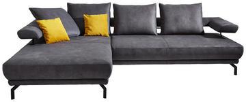WOHNLANDSCHAFT in Textil Anthrazit  - Anthrazit/Schwarz, Design, Textil/Metall (224/305cm) - Dieter Knoll