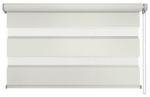 DUOROLLO  halbtransparent   80/160 cm - Creme/Weiß, Basics, Textil (80/160cm)