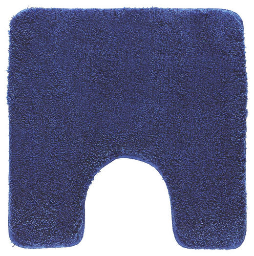 WC-VORLEGER  Dunkelblau - Dunkelblau, Basics, Kunststoff/Textil (55/55cm) - Kleine Wolke