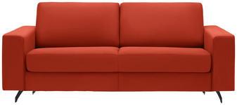 SCHLAFSOFA in Textil Orange, Rot  - Rot/Schwarz, MODERN, Textil (200/82/102cm) - Dieter Knoll
