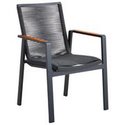 STOLICA SLOŽIVA - boje tikovine/antracit, Design, drvo/metal (65/88,50/60cm) - Amatio
