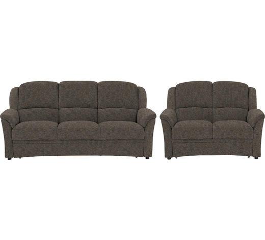 SITZGARNITUR in Textil Hellbraun  - Hellbraun/Schwarz, KONVENTIONELL, Kunststoff/Textil (204/98/89cm) - Beldomo Comfort
