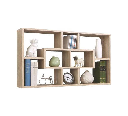 STENSKI REGAL 85/47,5/16,0 cm hrast  - hrast, Design, leseni material (85/47,5/16,0cm) - Boxxx