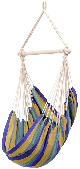 HÄNGESESSEL - Multicolor, Design, Holz/Textil (50/85/160cm)