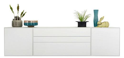 HÄNGESIDEBOARD lackiert - Weiß, Design, Holzwerkstoff (256/64/44,8cm) - Hülsta - Now