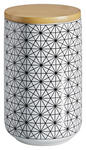 VORRATSDOSE  0,8 L  - Schwarz/Weiß, LIFESTYLE, Holz/Keramik (10/15cm) - Landscape