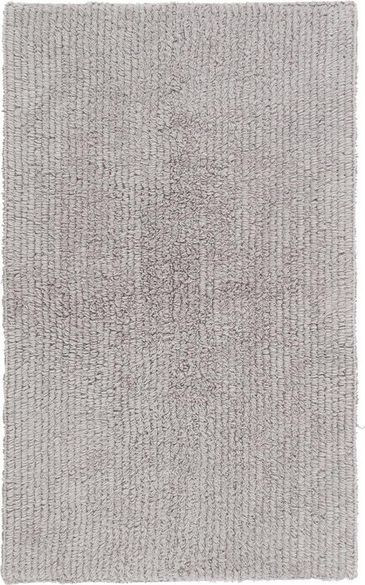 BADEMATTE in Silberfarben 60/100/ cm - Silberfarben, Natur, Textil (60/100/cm) - Linea Natura