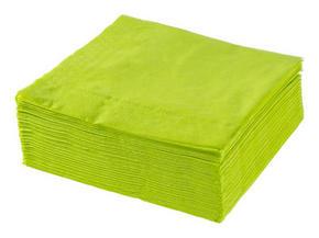 SERVETT - lime, Basics, papper (40/40cm) - Xxxlpack
